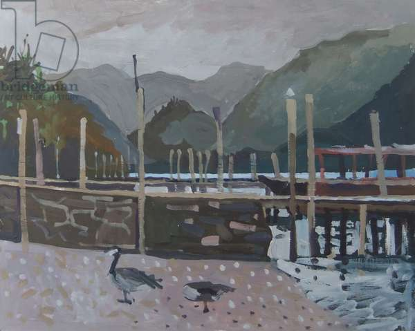 Geese by the Jetty Keswick