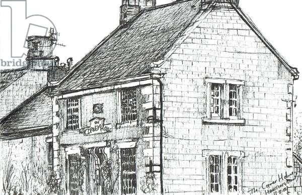 Corner House, Hartington, 2003, (ink on paper)