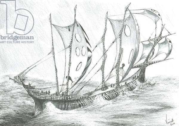Storm Creators Salton Sea, 2019, (ink on paper)