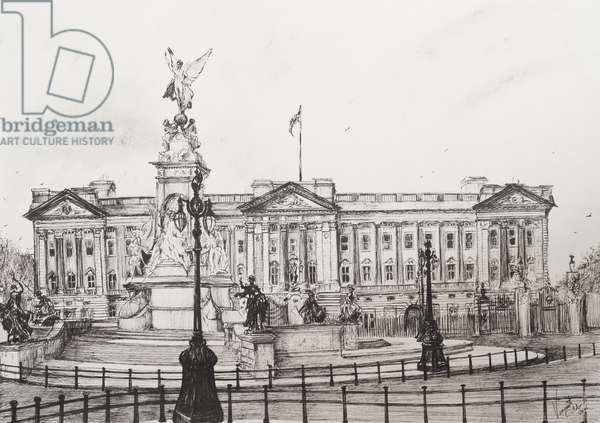 Buckingham Palace, London, 2006,   (ink on Paper)