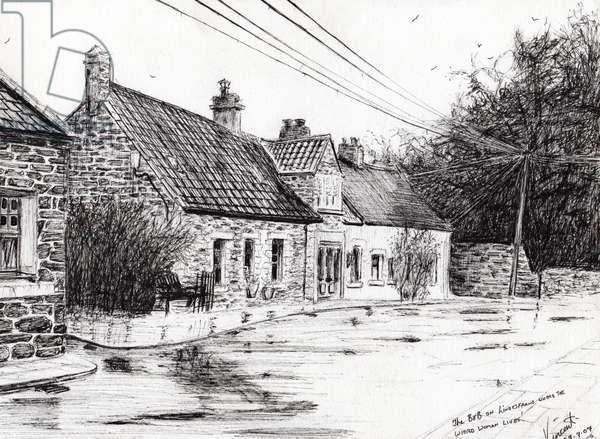 Lindesfarne holy island, 2007, (ink on paper)
