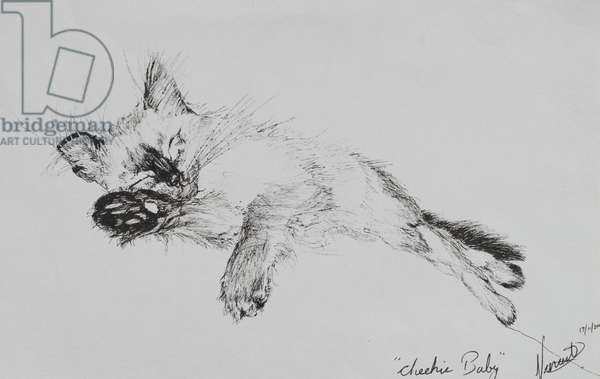 Kitty 'Baby', 2002, (ink on paper)
