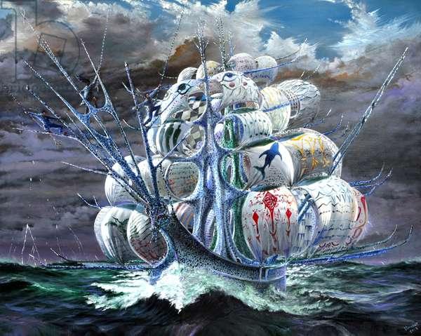 Storm Creators Amundson Sea, 2019, (oil on canvas)
