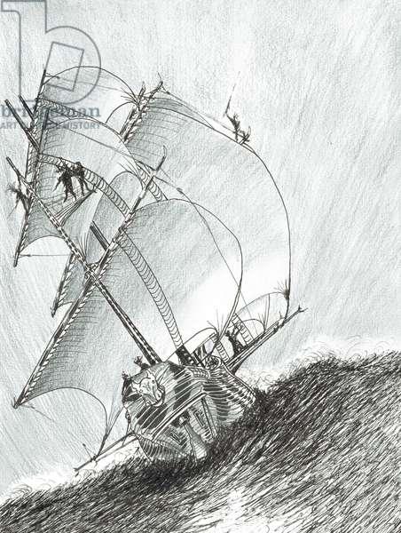 Storm Creators Molucca Sea, 2017, (ink and pencil on Paper)