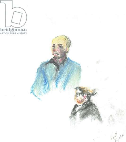Pub Goers, 2005, (pastels on;paper)