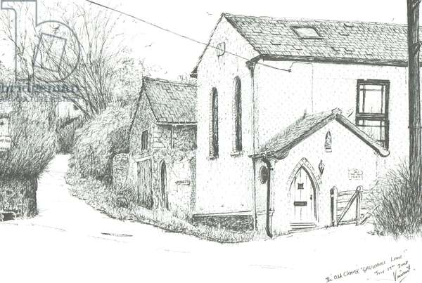 The Old Chapel, Brighstone Isle of wight, 2008, (ink on paper)