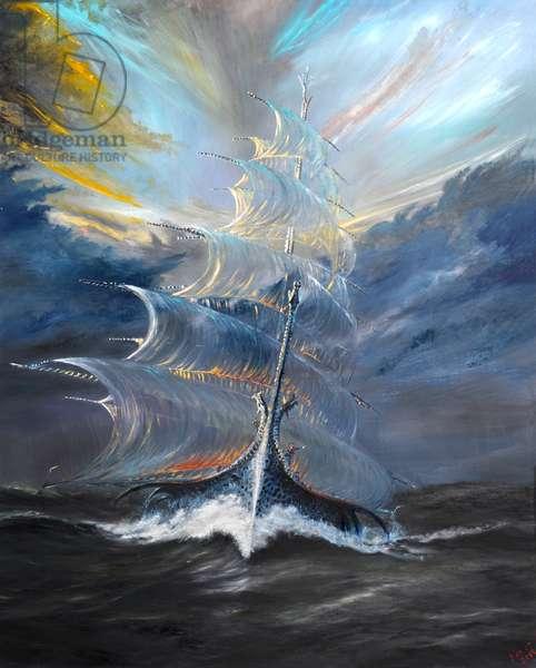 Storm Creators Beaufort Sea, 2019, (oil on canvas)