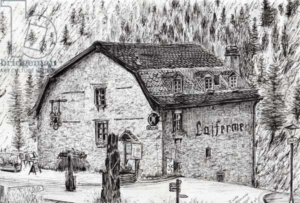 Zinal Switzerland, 2009, (ink on paper)