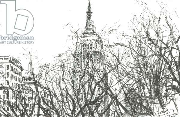 View from cafe New York, 2003, (ink on paper)