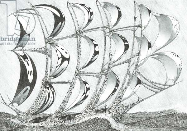 Storm Creators Laccadive Sea, 2017, (ink and pencil on Paper)