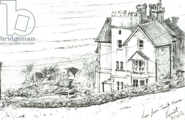The Jesuit House on the Welsh coast, 2005, (ink on paper)