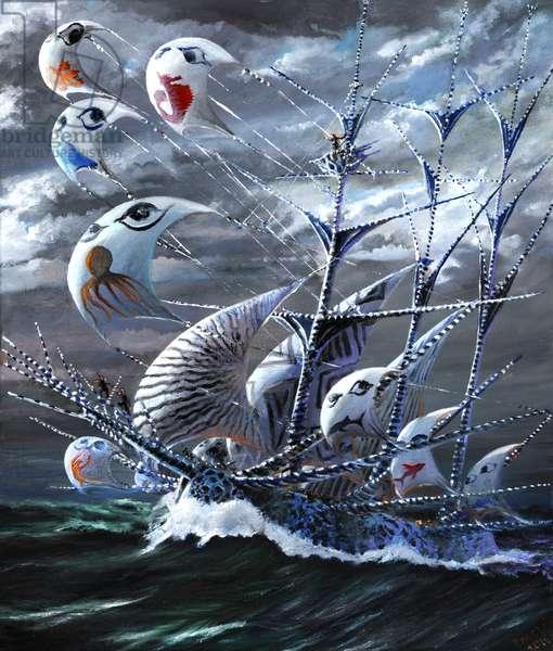 Storm Creators Bohai Sea, 2019, (oil on canvas)