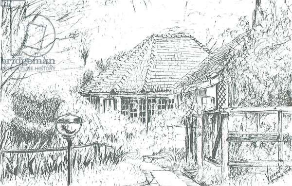 Rooms at hotel,Lake Naivasha, 2006, (ink on paper)