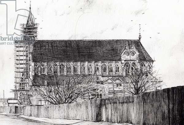 Gorton Monastery, 2006, (ink on paper)