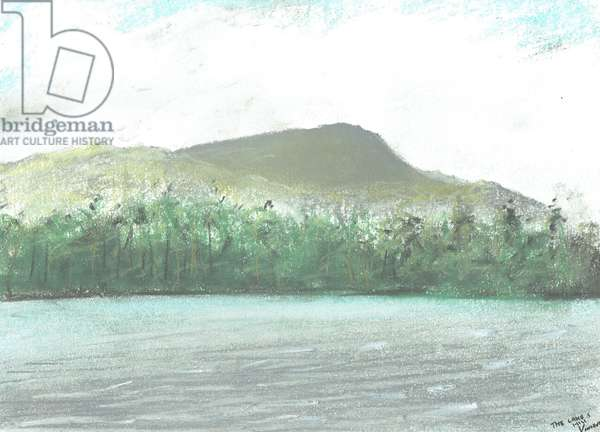 The lakes and hills, 2005, (pastels on paper)