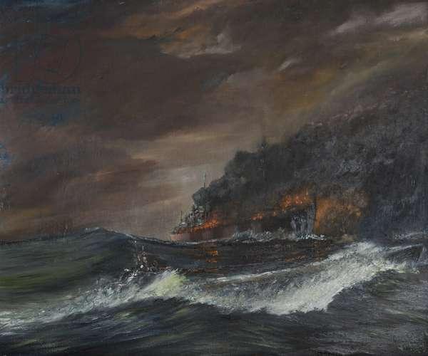 U107 - 750 days, 1993, (oil on canvas board)
