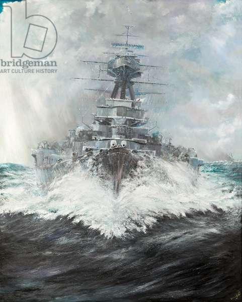 HMS Hood (2),  2016, (oil on canvas)