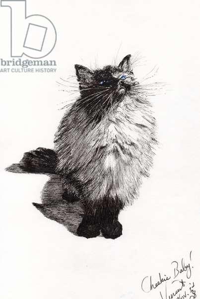 cheekie baby, 2008, (ink on paper)