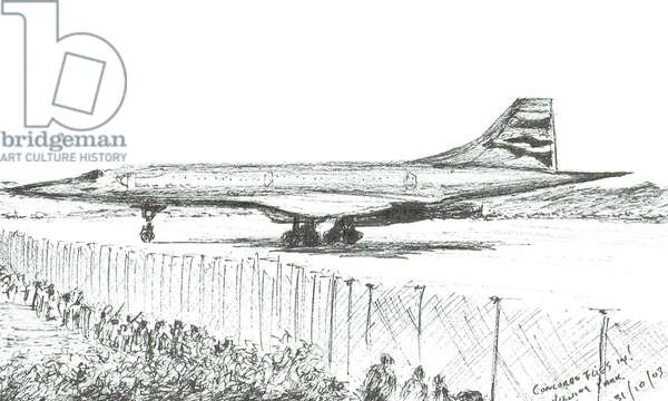 Concord's last landing, 2003, (ink on paper)