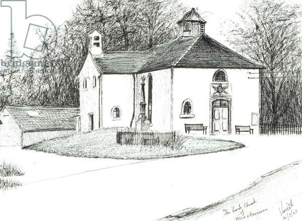 Killin & Ardeonaig Parish Church, 2007, (ink on paper)