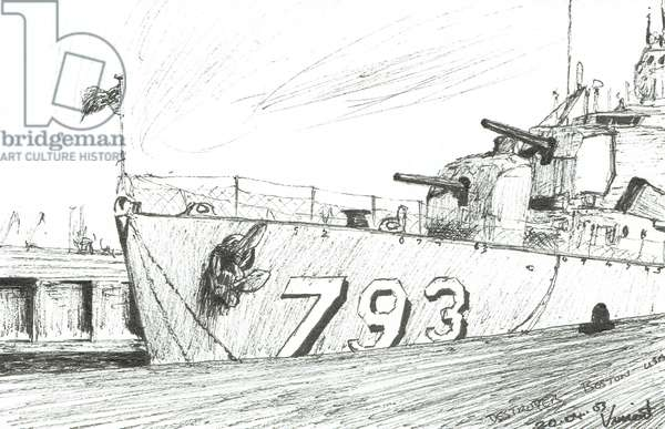 Destroyer 793 Boston Maritime Museum, 2003, (ink on paper)