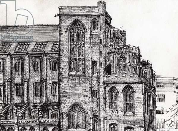 Rylands Library Manchester, 2007, (ink on paper)