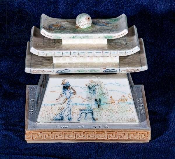 Tea theme ceramic, 1999 (glazed porcelain)