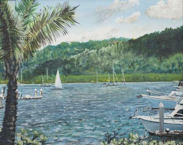 Cairns, Australia,1998, (acrylic on canvas board)