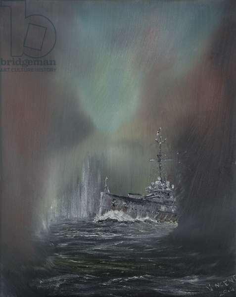Jutland May 31st 1916,  2014,  (Oil on canvas)