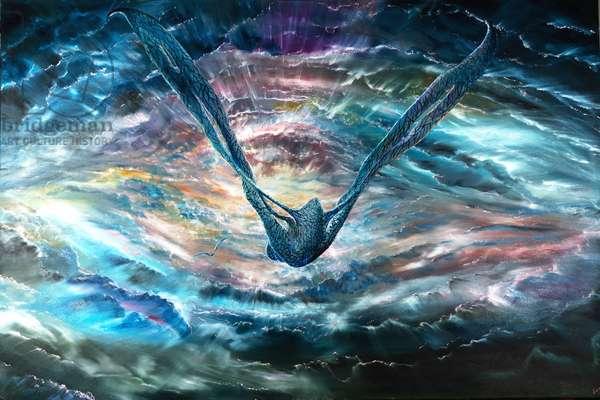 Storm Creators planet Saturn, 2021 (oil on canvas)