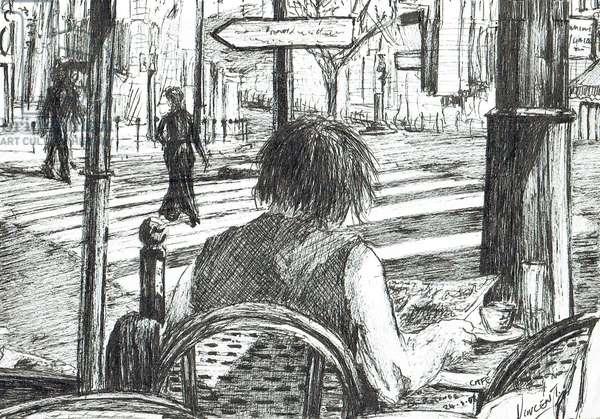 La Rotonde - Paris, 2003, (ink on paper)