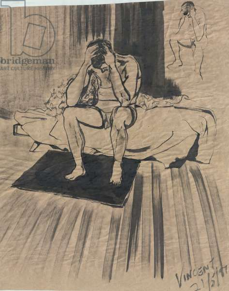The Depression, 1997, (ink wash on paper)