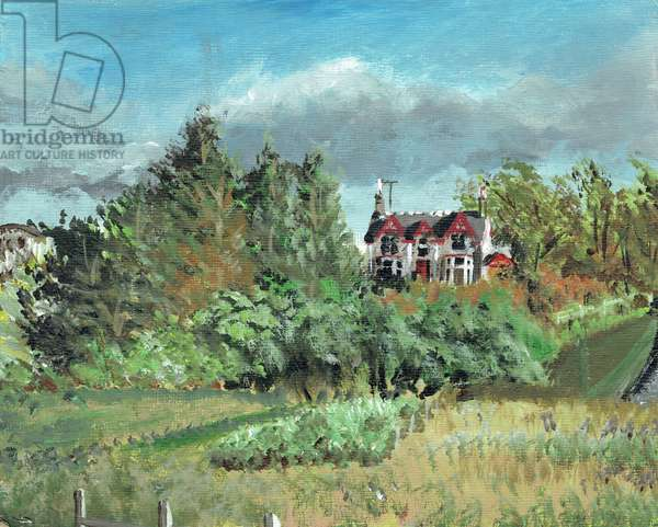 House in the Highlands, Creag Dhubh, 2006 (Acrylic on canvas board)