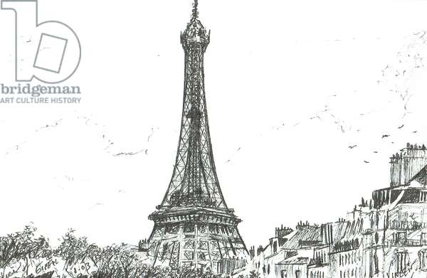 Eiffel Tower, 2003, (ink on paper)