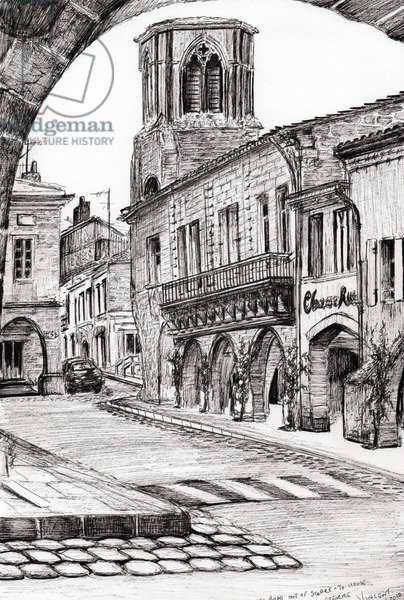 Sauveterre France, 2010, (ink on paper)