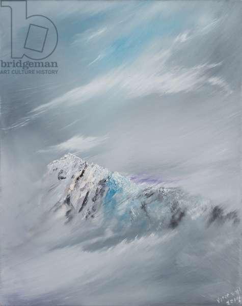 Snowdon 1, 2014, (oil on canvas)