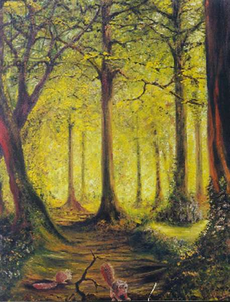 Woodland Yellow, 1996, (oil on canvas board)