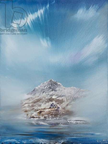 Snowdon 2, 2014, (oil on canvas)