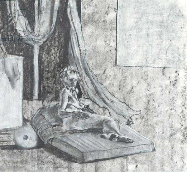 Rest, 1997, (pastels on paper)