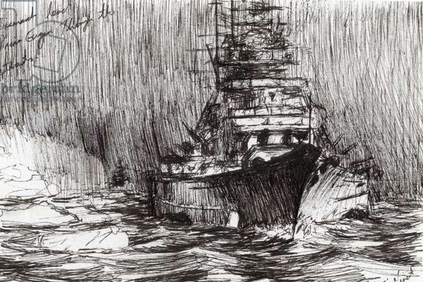 Bismarck, coast of Greenland, 2005, (ink on paper)