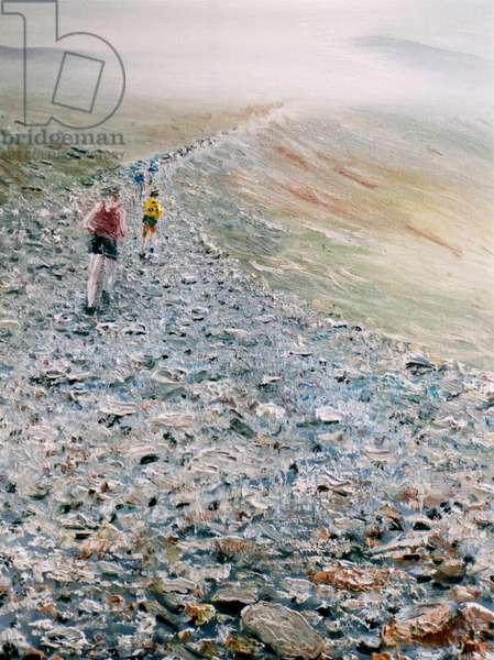 Run up Snowdon, 2014, (oil on canvas)