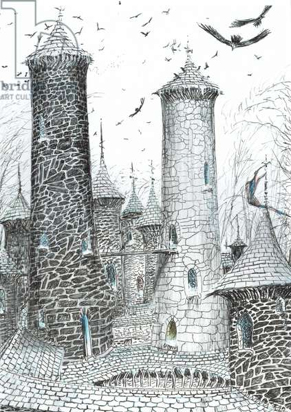 page9, The Castle in the Forest of Findhorn, 2006, (ink on paper)