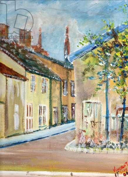 Laignes, France, 2006, (acrylic on canvas board)