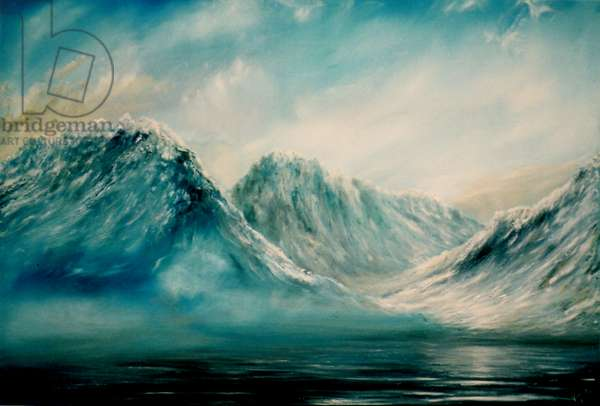 Mountains at Lakes, 2009, (oil on canvas)