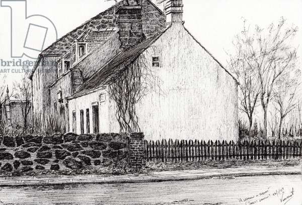 A window in thrums, 2009, (ink on paper)