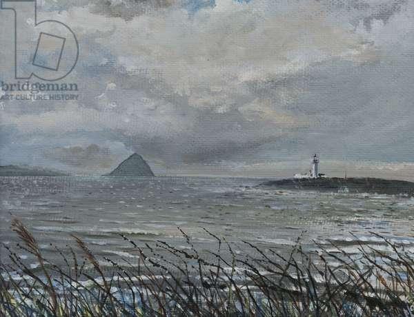 Ailsa Craig from Arran, 2007, (acrylic on canvas board)