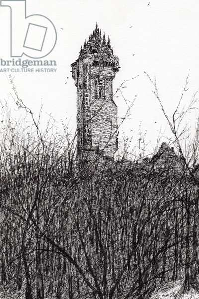 Wallace monument, 2007, (ink on paper)