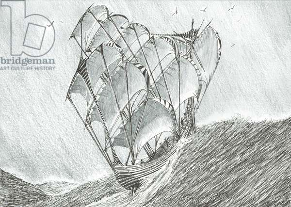 Storm Creators Coral Sea, 2017, (ink and pencil on Paper)