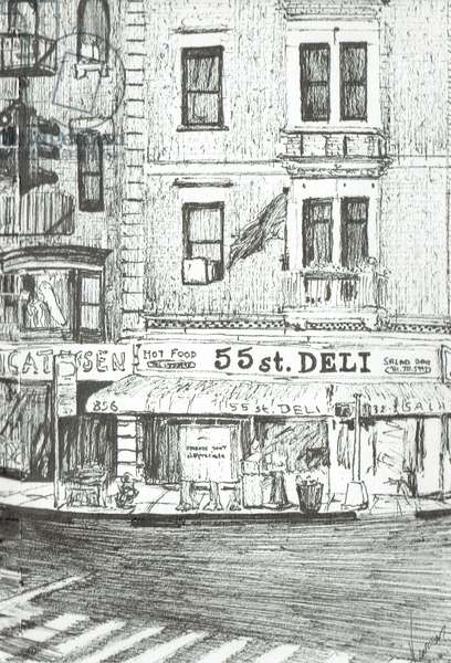55th street New York, 2003, (ink on paper)