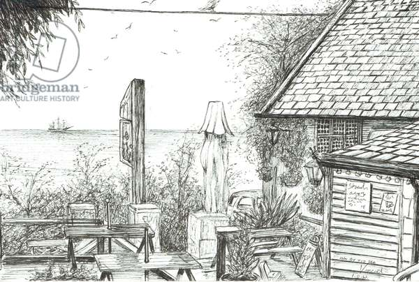 Inn on the Isle of Wight, 2009, (ink on paper)